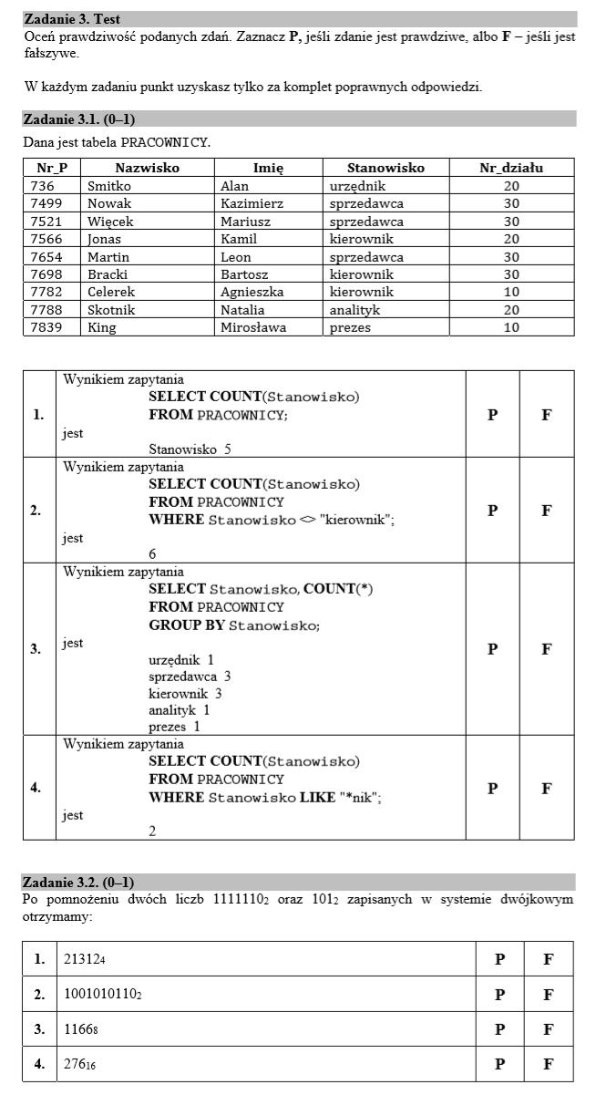 Matura rozszerzona z informatyki - maj 2019 zadanie 3